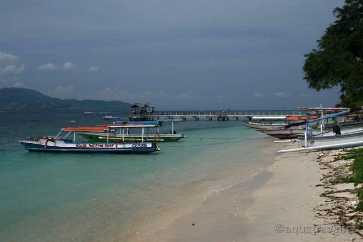 Gili Trawangan u Lomboku pláž. Exotická dovolená