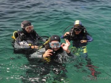 Potápění s dětmi