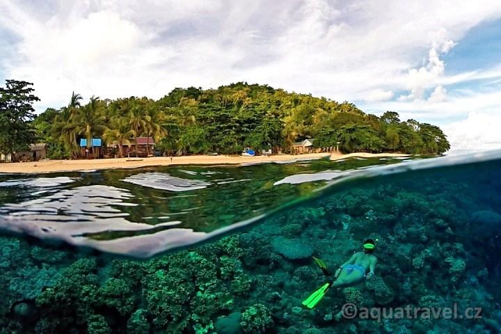 Ostrov Hatta šnorchlování