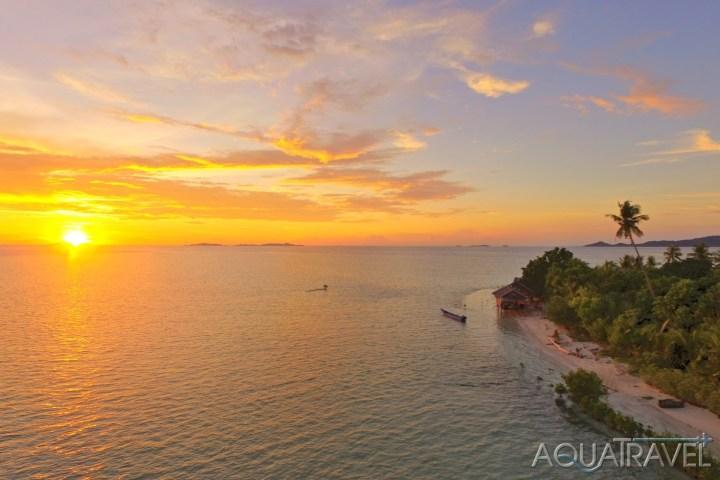 Západ slunce na ostrově Arborek