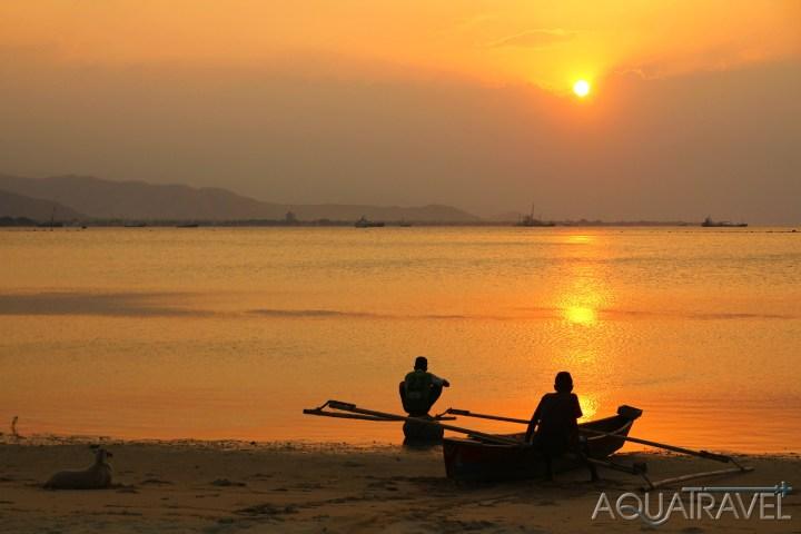 Západ slunce v Dili