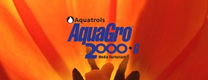 AquaGro Media Surfactant logo on flower