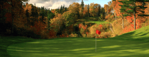 Golf course during the fall season