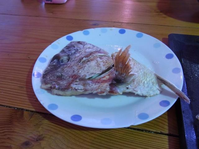 黒潮 パールロード店で鯛の御頭焼きも食べる