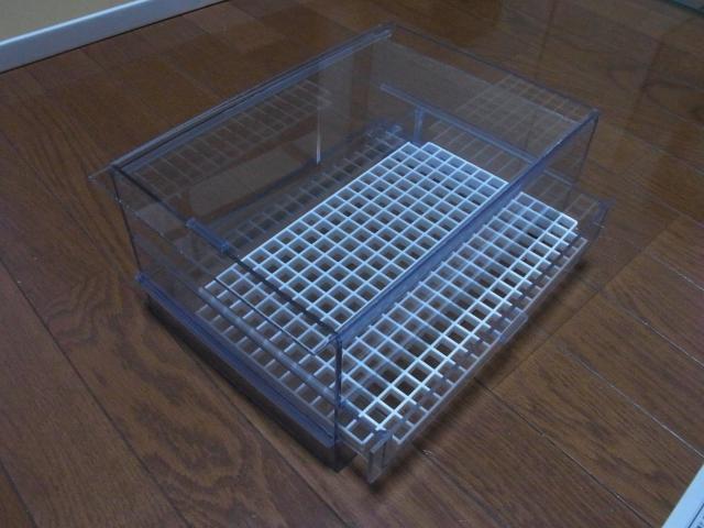 自自作した引き出し式ウールボックス