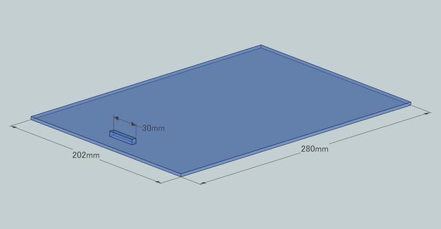 設計図 フタ部分 寸法もあり