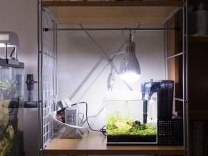 クリップライトで吊り下げ照明を自作!水槽周りをお洒落に!