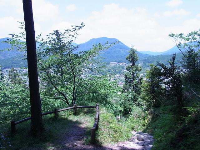 箸折峠から近露を見渡す