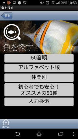魚探しの画面