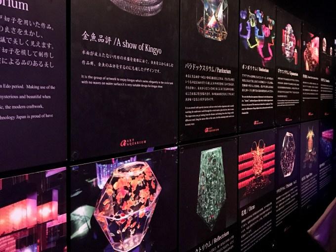 アートアクアリウム 2017 展示案内板