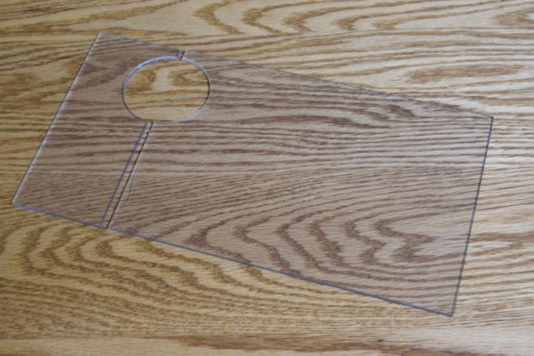 ウールボックスのフタ自作 穴を中心に塩ビ板を2分割