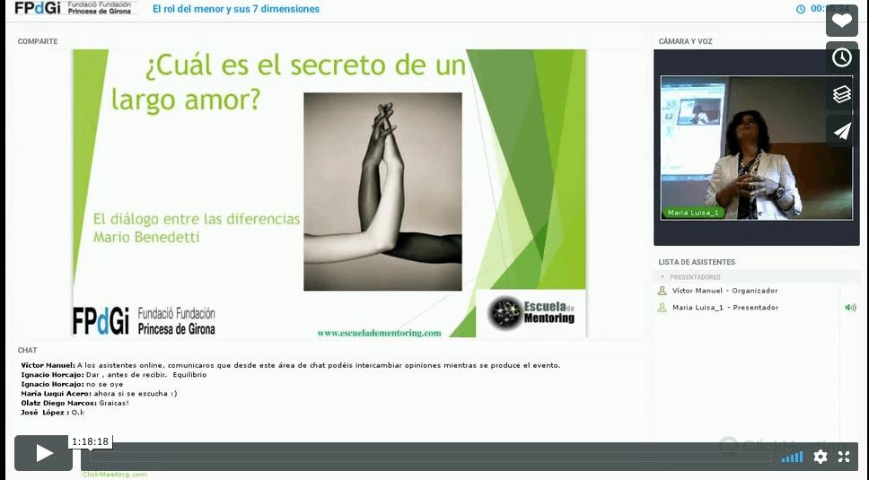 Video de la Conferencia «Las 7 Dimensiones del Rol de Mentor»