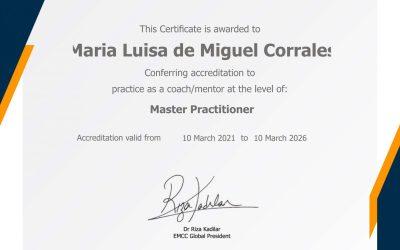 Obtención de la Acreditación como mentora y coach Nivel Master de EMCC Global