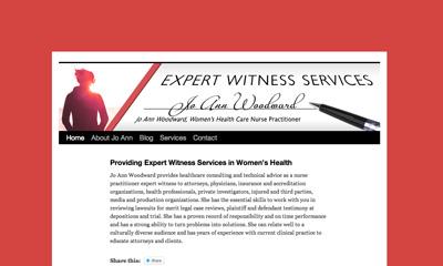 Expert Witness Services, Jo Ann Woodward