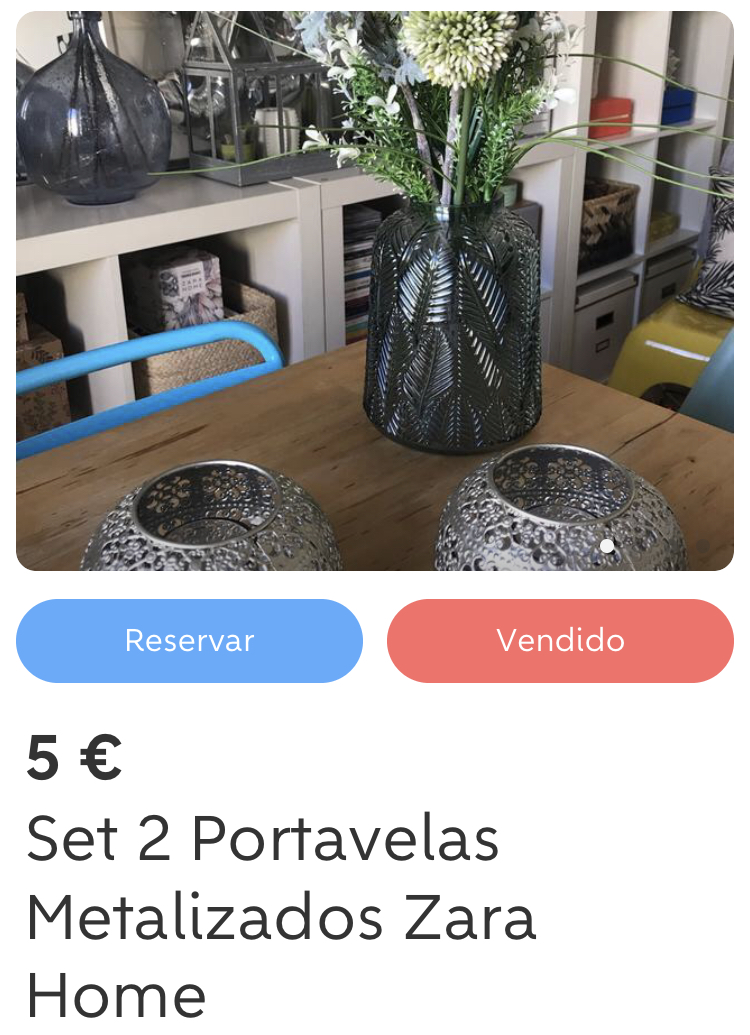 Set 2 Portavelas Metalizados Zara Home