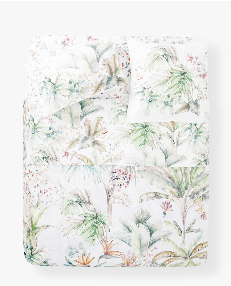 Funda nórdica estampado hojas tropicales- Zara Home