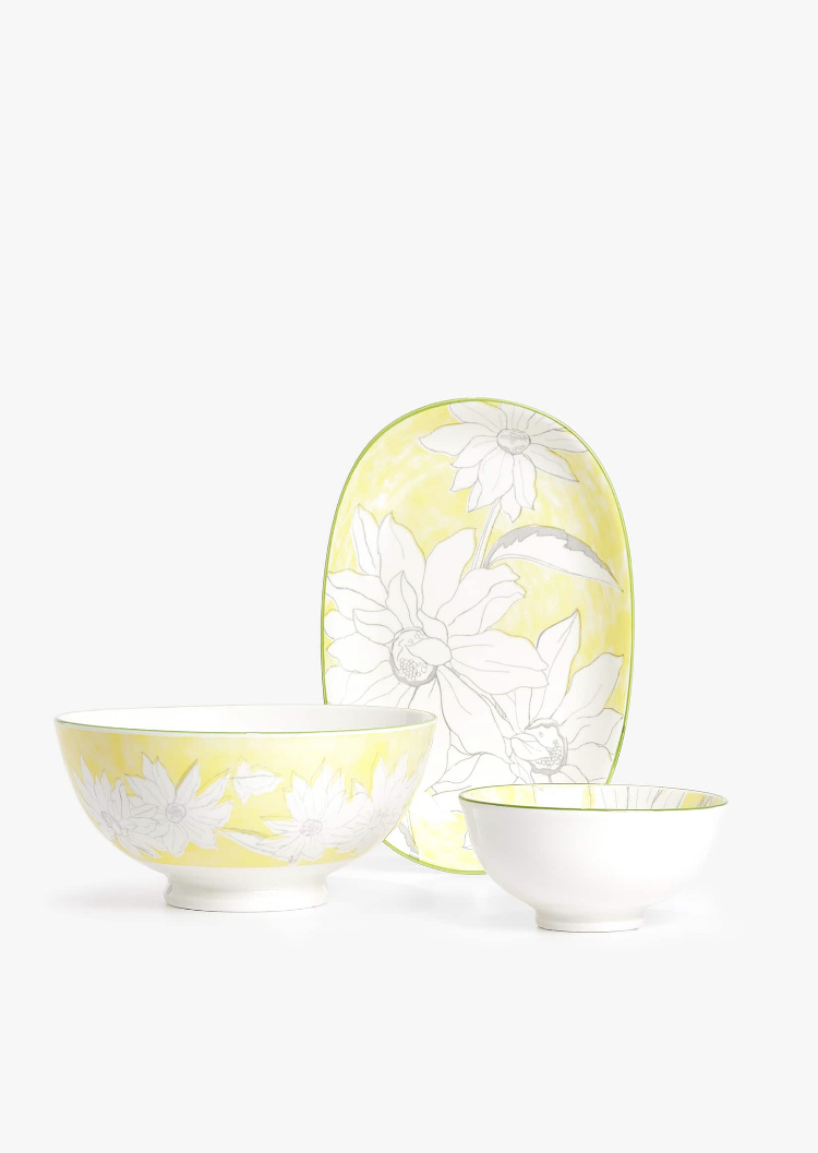 Set Flores Amarillo de Zara Home