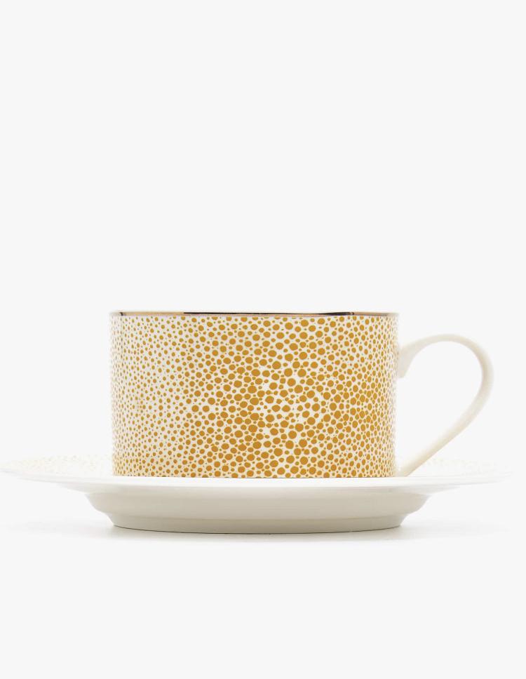 Taza de Té con Plato Porcelana Bone China Shagreen de Zara Home
