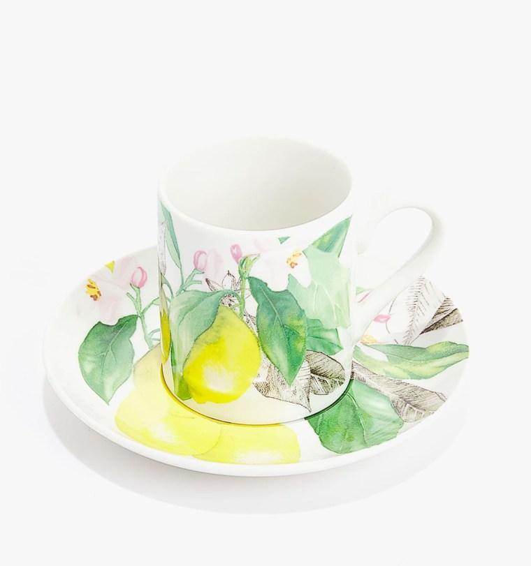 Taza Café con Plato Porcelana Limones de Zara Home