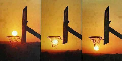Luna efecto basquetbol