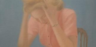 """Chechu Álava: Lee Miller con dolor de cabeza, 2013. Óleo sobre lienzo. 46 x 55 cm. Colección privada. Exposición """"Chechu Álava. Rebeldes"""". Del 27 de enero al 29 de marzo de 2020. Museo Nacional Thyssen-Bornemisza"""