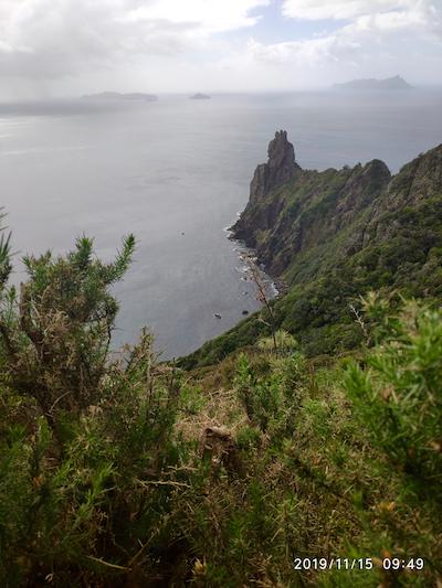 Vista de la costa de Whangarei Heads. Isla Norte de Nueva Zelanda