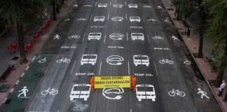 Diseño de Greenpeace para una nueva movilidad urbana adaptada al COVID-19
