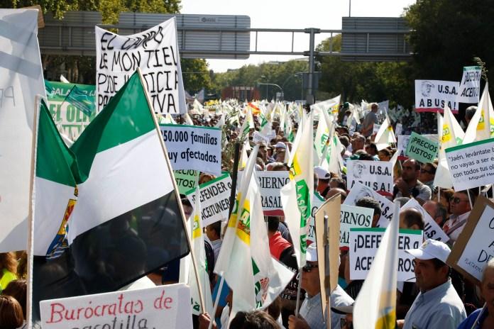 Manifestación UPA Federal por un Olivar justo