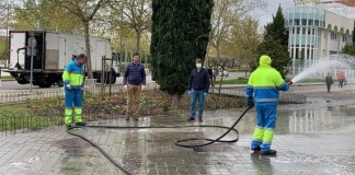 Tres Cantos limpieza viaria coronavirus
