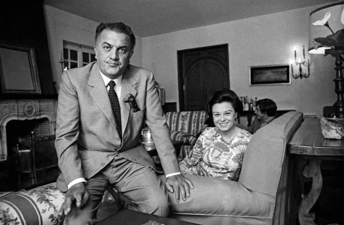 Fellini con Giulietta Massina