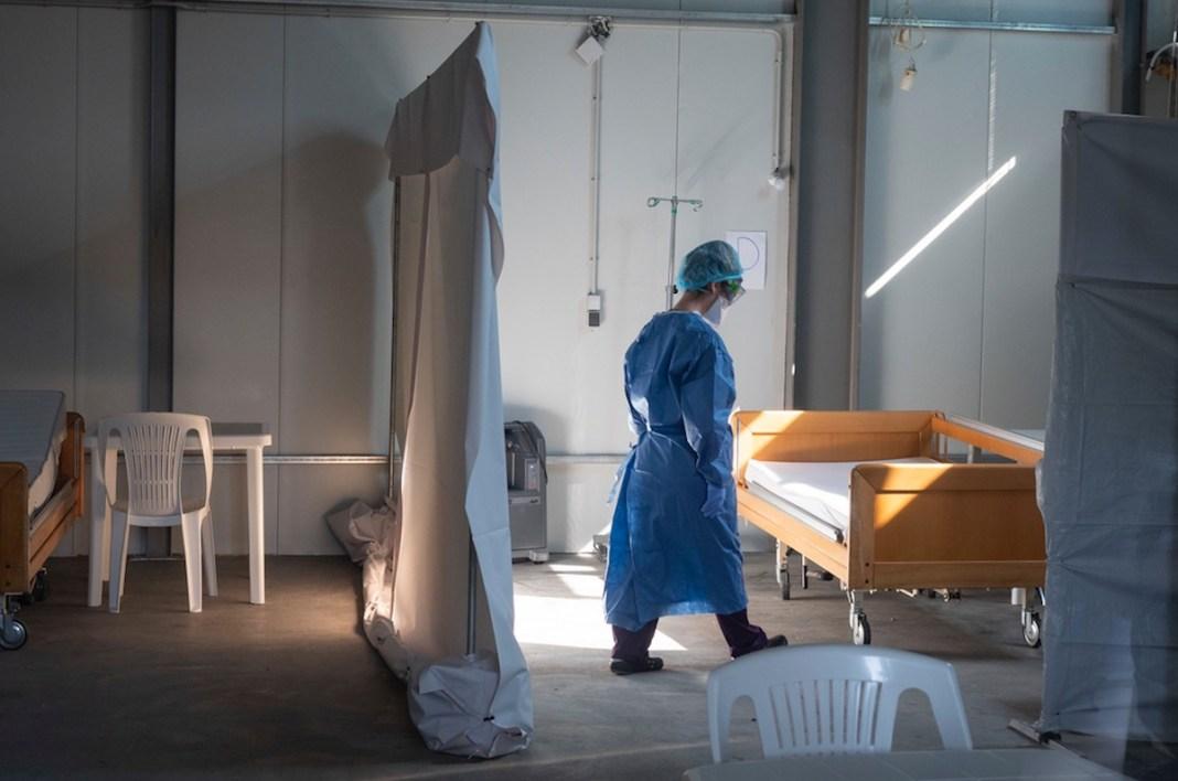 MSF centro Covid Lesbos © Enri Canaj