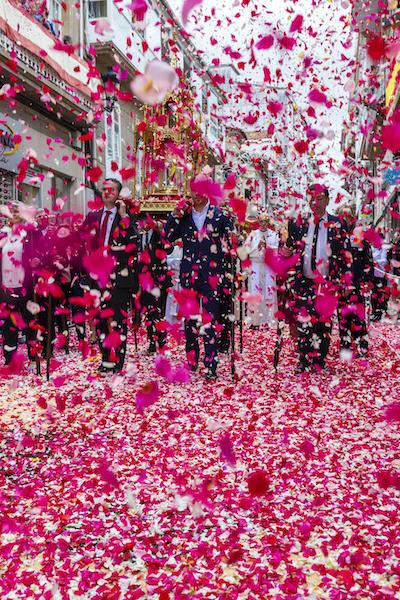 Ponteareas, fiestas del Corpus, alfombra floral © Xurxo Lobato