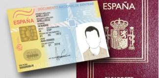 DNI pasaporte español