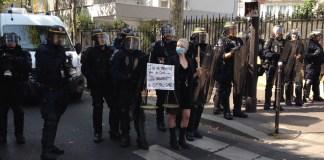Paris 12SEP2020 cordon policial antimanifestante