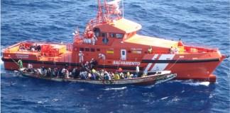 Salvamento marítimo pateras