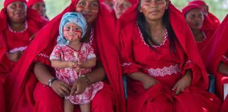 Mujeres Wayúu en Colombia
