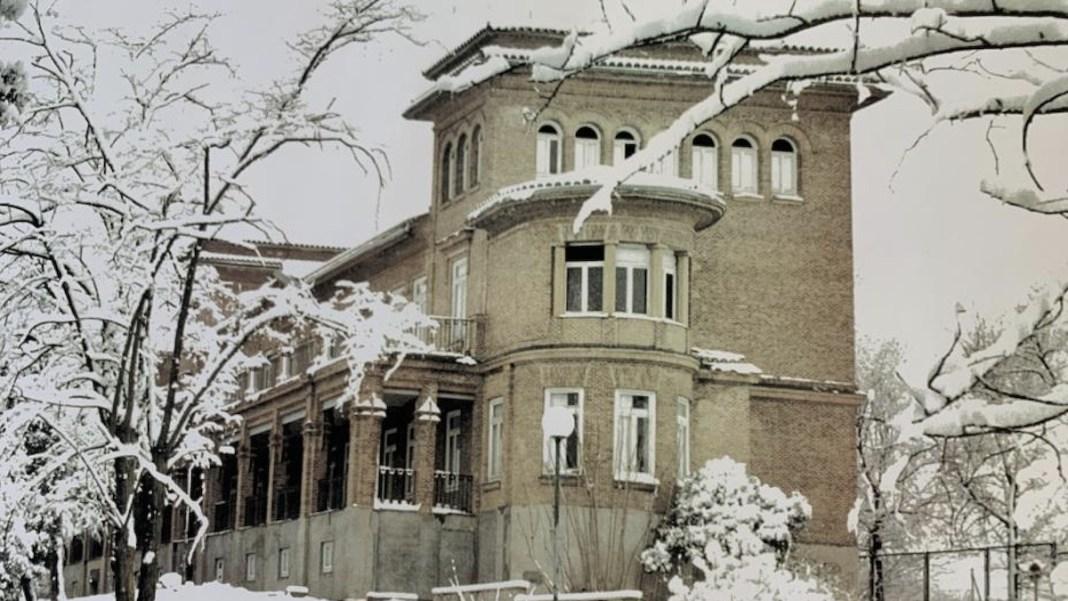 Hospital de Cantoblanco nevado © foto archivo