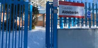 Tres Cantos: el colegio Aldebarán afectado por la nieve del temporal Filomena