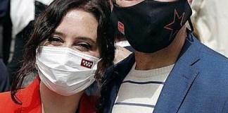 Isabel Díaz Ayuso con Toni Cantó en la precampaña en Madrid para el 4 de mayo 2021
