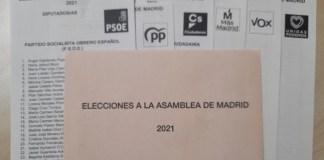 Elecciones 4MAY papeletas
