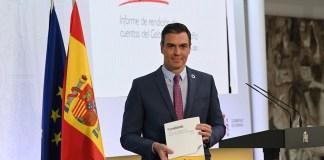 Pedro Sánchez presenta el informe « umpliendo». Pool Moncloa / © Borja Puig de la Bellacasa