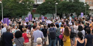Vecinos Cuatro Caminos, Ventilla-Almenara en la protesta del 14 de julio de 2021
