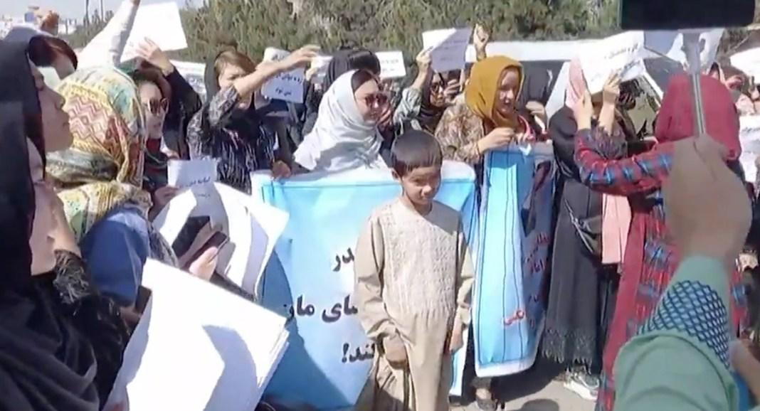 Protestas de mujeres en Kabul. SEP2021
