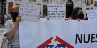 Madrid protestas metro 7B en Sol pancartas