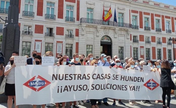 Madrid protestas metro 7B en Sol