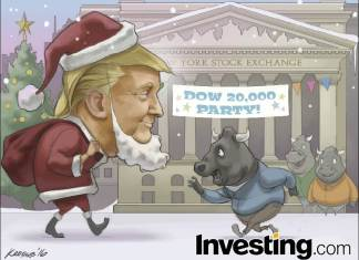 Santa Trump y el Dow Jones.