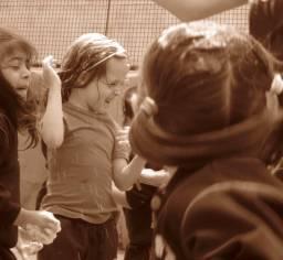 Foam party... children version