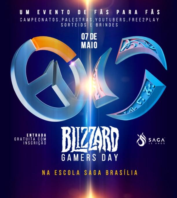 SAGA de Brasília recebe fãs de Overwatch e Heroes of the Storm no Blizzard Gamers Day