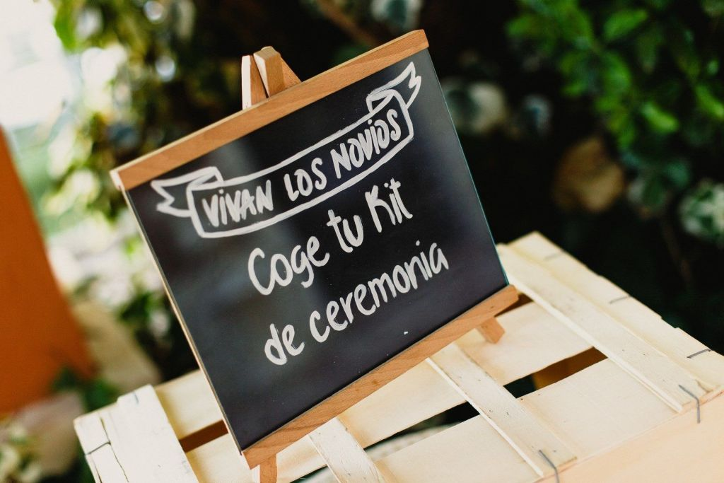 cartel kit ceremonia boda