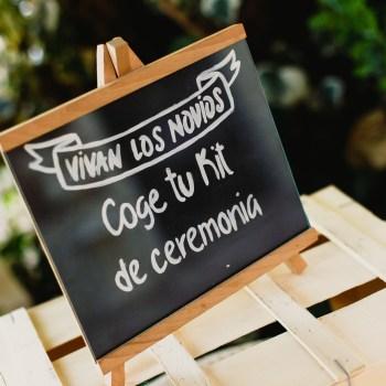cartel kit ceremonia boda